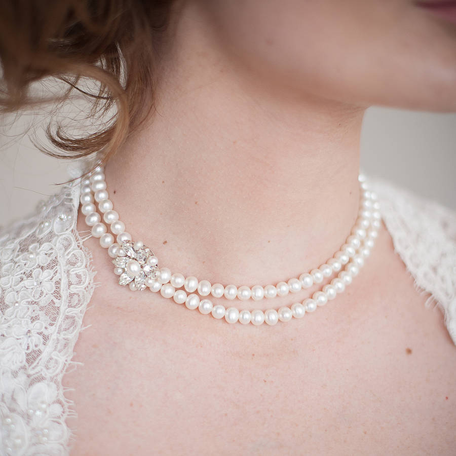 buying a pearl necklace the charity wedding the